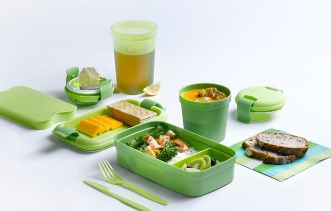 قمقمه و ظرف نگهدارنده کرور (CURVER) 0.4 لیتر، ظرف غذا، ظرف مایعات