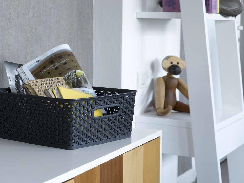 سبد کرور (CURVER) A4 حصیری، جعبه وسایل، سبد لوازم