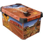 Curver-04710-A76-07-Aufbewahrungsbox-Deco-Australia-Groesse-S-in-Anthrazit,-Plastik,-29.5-x-19.5-x-13.5-cm-von-Curver-1638410299-500×505