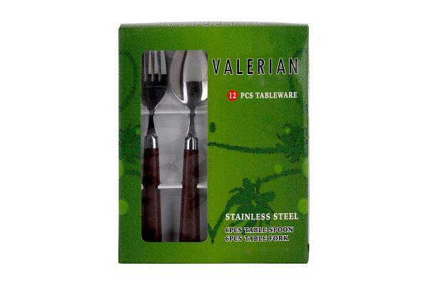 قیمت و خرید قاشق و چنگال والرین (Valerian) 12 پارچه مدل 2908 DS (2)