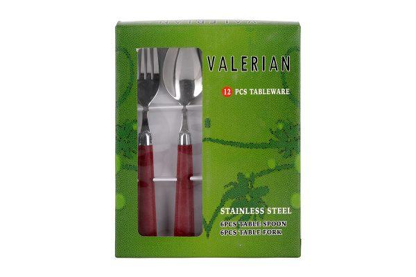 قیمت و خرید قاشق و چنگال والرین (Valerian) 12 پارچه مدل 2908 DS