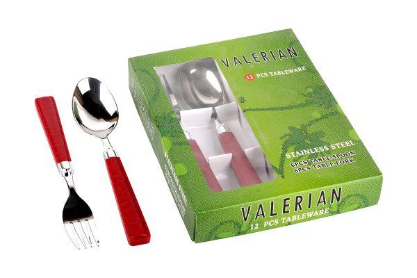 قیمت و خرید قاشق و چنگال والرین (Valerian) 12 پارچه مدل 2908 DS (3)