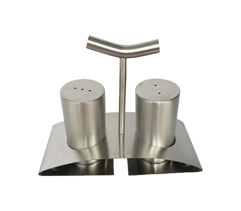 قیمت و خرید نمکدان 2 تایی استیل پایه دار والرین (VALERIAN) مدل OME-276