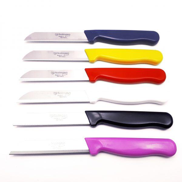 قیمت و خرید چاقو اره ای زولینگن (Solingen) آلمانی لیزری دسته رنگی
