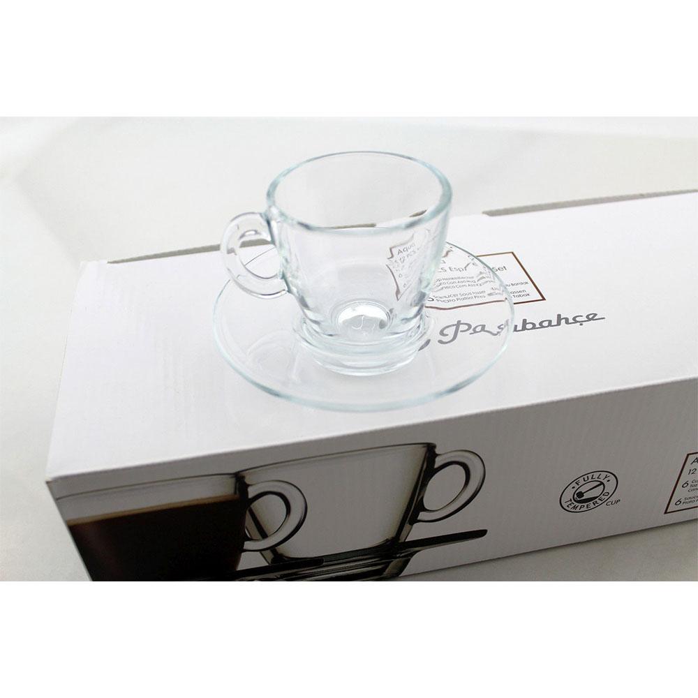 قیمت و خرید ست فنجان و نعلبکی پاشاباغچه (Pasabahce) مدل Aqua