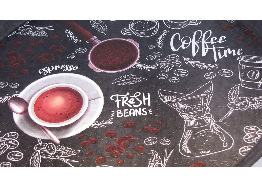سینی گرد رایکا قطر 32 مدل Espresso