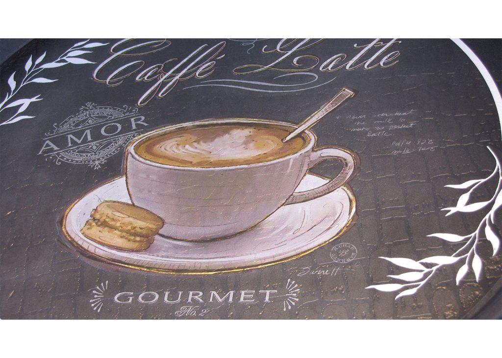 سینی گرد رایکا قطر 32 مدل Latte