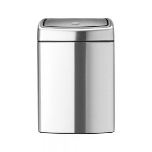 Touch Bin, 10L - Matt Steel Fingerprint Proof - 8710755477225 Brabantia_1000x1000px_7_NR-5365